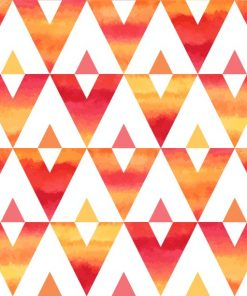 Abstract Tropical Sunset Triangles