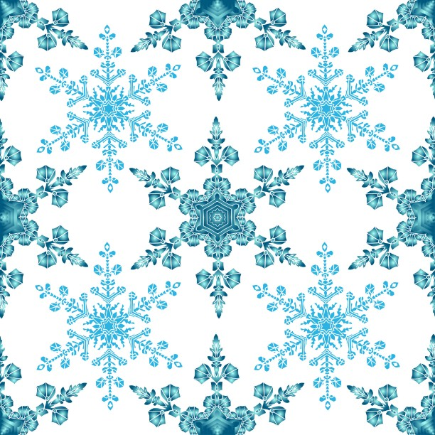 Blue Colored Snowflakes