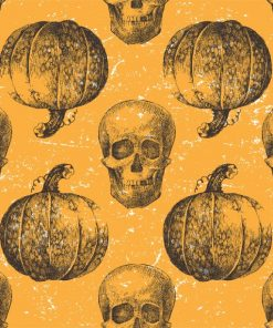 Pumpkins and Skulls